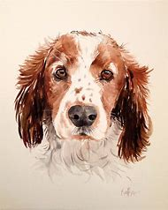 Dog Portraits Watercolor Painting