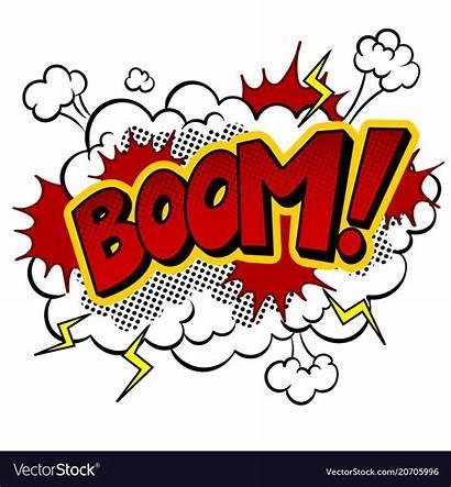 Boom Word Comic Pop Vector Illustration Background