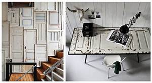 deco porte 10 idees pour reutiliser une porte vintage With porte d entrée pvc avec luminaire salle de bain vintage