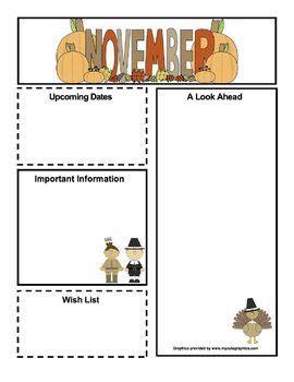 free november newsletter kindergarten classroom 589 | c5ad3d537af86b263d9e0a688e5eb6fd