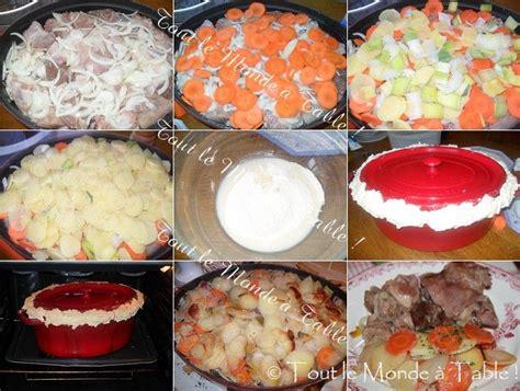 recette cuisine baeckoff baeckeoffe cocotte fonte table de cuisine