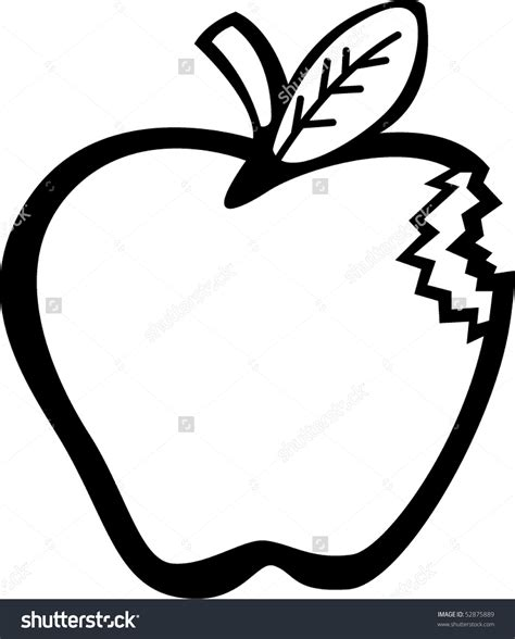 bit clipart black and white apple with bite clipart black and white