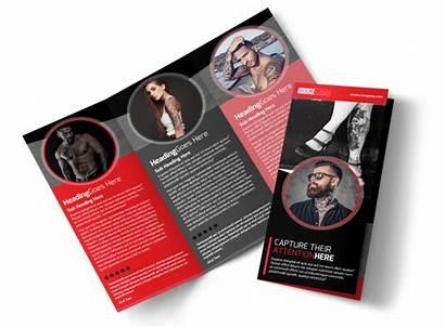 Brochure Creative Artist Template Tattoo Tri Fold