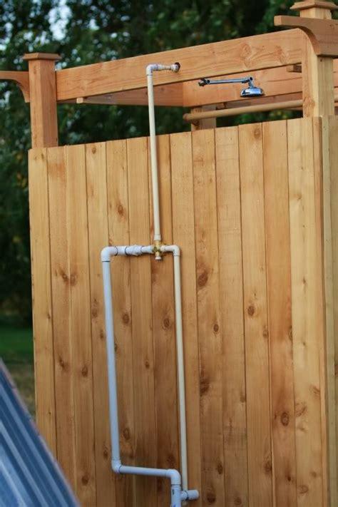 Diy Solar Outdoor Shower  Home Design, Garden
