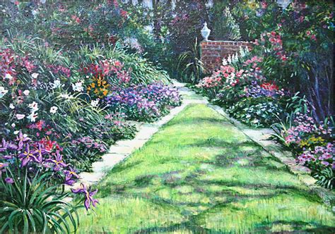 www englishgardens albert sharp painting english garden landscape for sale antiques com classifieds