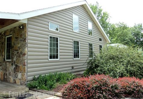 vinyl log siding traditional exterior new york by