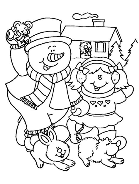 winter coloring pages  kids printable coloring home