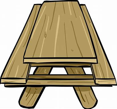 Picnic Table Clipart Bench Transparent Royalty Penguin