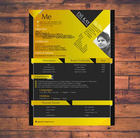 resume templates  graphic designers