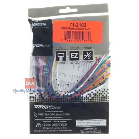 Metra Turbowires Wiring Harness Saturn Ion