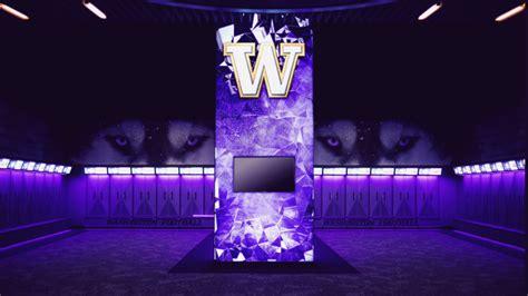 washington huskies unveil  led filled locker room