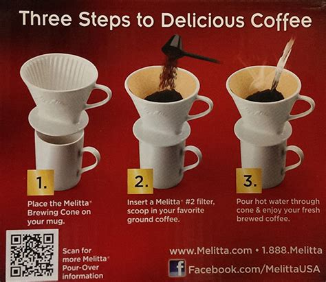 The best ratio of coffee to water is 60g of coffee to 1 quart, (liter), of water or roughly speaking 1 tablespoon of coffee beans to 1 cup of water. Melitta - #2 Porcelain Cone Pour-Over Coffee Maker - Best Way To Brew!   eBay