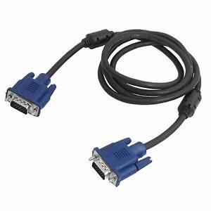 Black Blue Vga 15 Pin Plug Computer Monitor Cable Wire Cord 1 5m Hp 700358183515