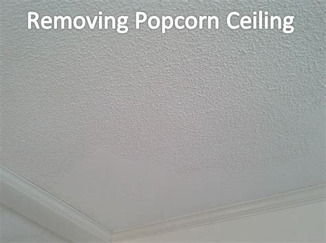 in order to remove the popcorn ceiling i took a 6 inch