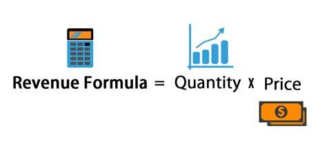 revenue formula calculator  excel template