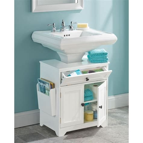 bathroom pedestal sink storage cabinet storage designs
