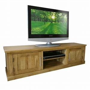 50% Off Solid Oak TV Cabinet Stand with Doors Wide Unit