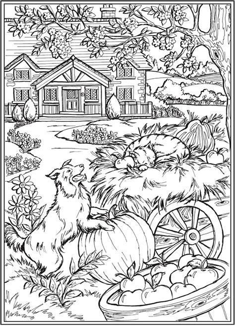 dover publications fall coloring pages animal coloring pages farm animal coloring
