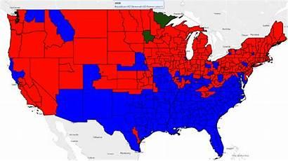 Political 1930s Map Elections Democrats Republicans Congress