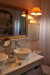 photo salle de bains et romantique deco photo decofr With meuble salle de bain romantique
