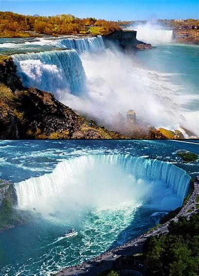 Falls Niagara Canada Waterfalls Amazing Most Usa
