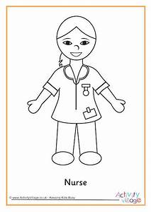 Nurse Colouring Page