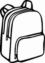 Supplies Cliparts Coloring Pages Backpack Bag sketch template