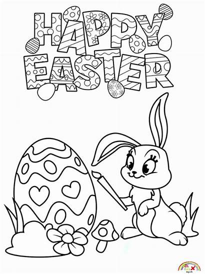 Easter Coloring Bunny Happy Blogx Info Google