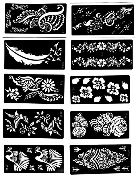 Tattoo Stencil 10 Sheet Henna Designs Temporary Tattoo / SelfAdhesive Template >>> You can get