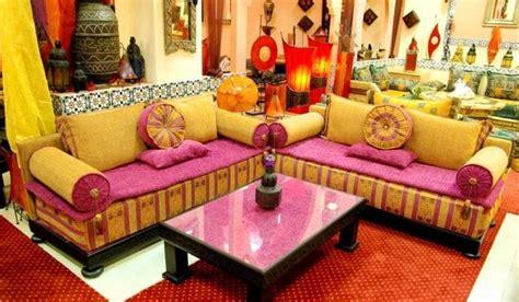 tissu canapé marocain salon déco salon marocain