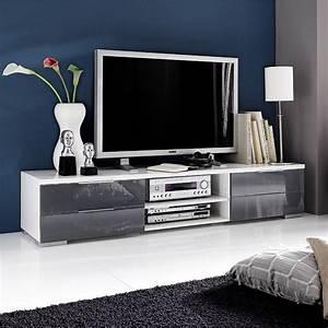 Tv Möbel Weiß Hochglanz : 8612 lowboard grau weiss hochglanz ~ Indierocktalk.com Haus und Dekorationen