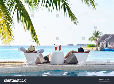Happy Young Couple Relax Take Fresh Stock Photo 157250453