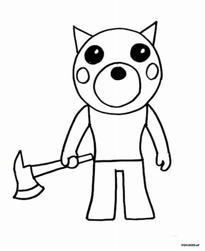 Roblox Coloring Adopt Piggy Printable Doggy Sheets