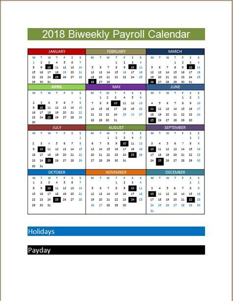 biweekly payroll calendar template microsoft word
