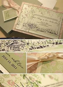vintage lacy tree wedding invitation redwood forest With redwood tree wedding invitations