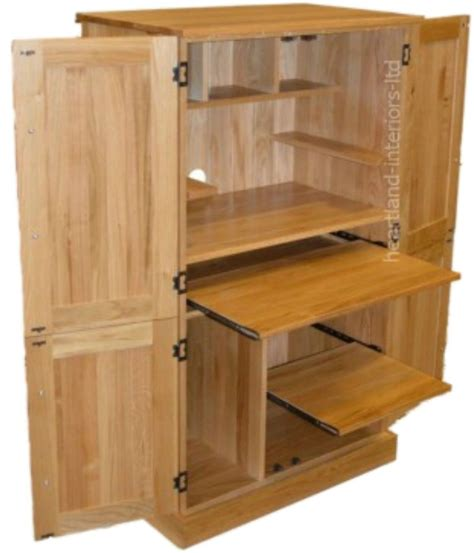 Hideaway Desk Cupboard by Details About Solid Oak Desk 4 Door Bespoke Hideaway