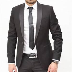 Chemise Homme Pour Mariage : achat costume homme noir col ch le pour mariage ou c r monie ~ Melissatoandfro.com Idées de Décoration