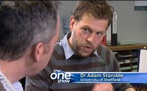 Adam Stansbie on The One Show - 2013 - News and Events ...