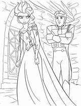 Coloring Elsa Hans Queen Disney Prince Walt Characters Fanpop sketch template