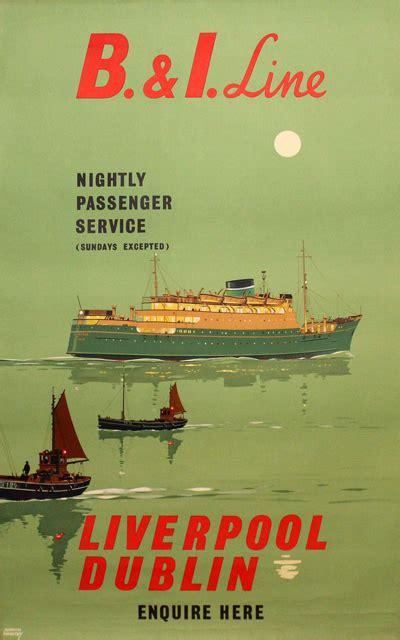 original vintage poster    liverpool dublin