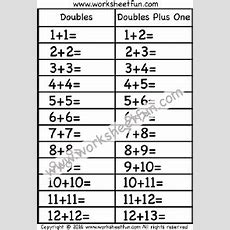 Doubles Plus One  1 Worksheet  Printable Worksheets  Pinterest  Worksheets, Math And Homeschool