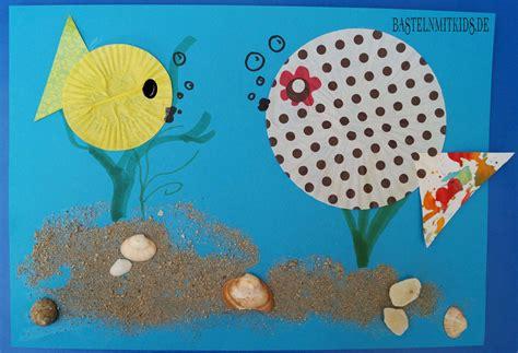 Bunte Fische basteln  Basteln mit Kindern