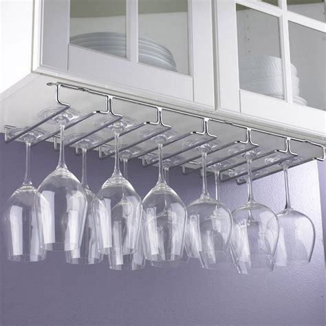 under cabinet stemware rack large under cabi stemware rack wine enthusiast under