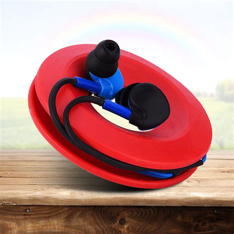 donut magnet silica earphone earbud headphone holder cable