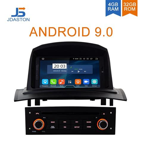 jdaston android 9 0 car dvd player for renault megane fluence 2 2002 2008 octa cores 4g 32g