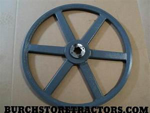 New Pto 18 4 Inch Belt Pulley And 1 3  8 Inch 540 Rpm Pto Shaft Insert   U2013 Burch Store Tractors