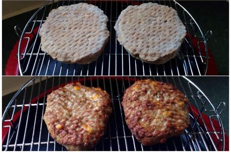 frozen oven burgers cooking convection nuwave cooked cheddar recipes microwave packaged bacon extra cook hamburgers christy even juicy minutes nu