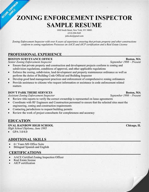 home inspector resume safety inspector resume exle