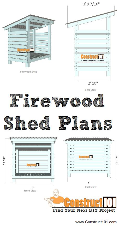 firewood shed plans   construct