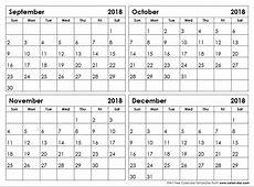 September December 2018 Calendar Qualads